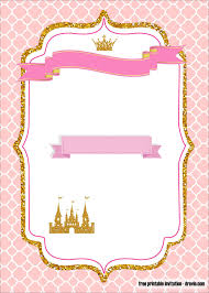 Free Printable Royal Princess Party Invitation Templates En 2020