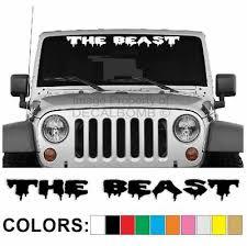 The Beast Windshield Decal Sticker Drip1 Turbo Truck Lift Mud Car Diesel Truck Ebay