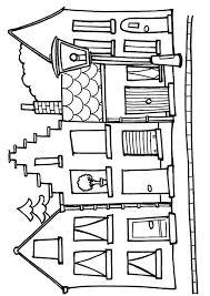 Zeefdruk Idee Huizen Kleurplaten Krijtstift