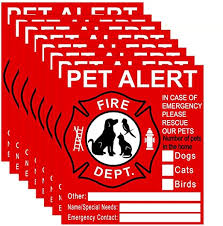 Amazon Com Pet Inside Sticker 8 Pack Pet Alert Safety Fire Rescue Sticker Decal Save Our Cat Dog Pets In A Fire Emergency Firefighters Will See Alert On The Window Door Or House And