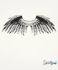 Vinyl Wall Decal Sticker Large Angel Wings 758 Stickerbrand