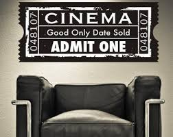 Ticket Wall Decal Etsy