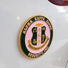 Aka Car Tag Circle Shield Sorority Car Decal Nl Greek