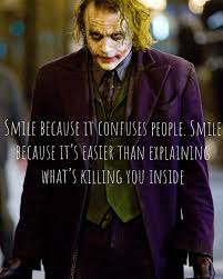 """quotes """"smile because it confuses people smile because it s"""