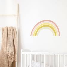Beige Boho Rainbow Wall Decal For Kids Rooms Made Of Sundays