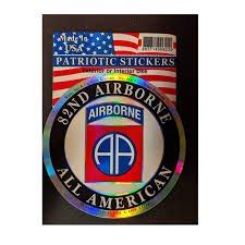 Us Army 82nd Airborne Round Full Color Window Decal Sticker Licensed Custom Sticker Shop
