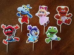 Muppet Babies Cupcake Toppers Muppet Babies Cupcake Picks Muppet