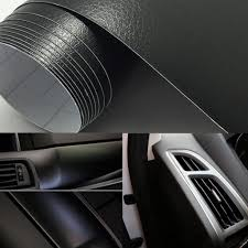 Leather Vinyl Car Wrap Sticker Decal Film Sheet Adhesive Sticker Interior Car Styling Covering Black Buy At A Low Prices On Joom E Commerce Platform