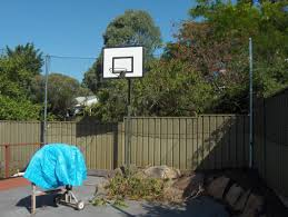 Net On Fence To Stop Basketball Going Over Backyard Basketball Outdoor Basketball Court Basketball Court Backyard
