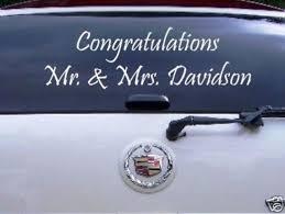 Wedding Just Married Congratulations Car Decal Wedding Decal Car Decals Stickers Vinyl Sticker