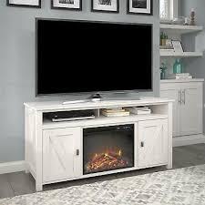 ivory barn door electric fireplace