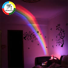 Coversage Rainbow Night Light Projector Children Kids Baby Sleeping Romantic Led Projection Lamp Atmosphere Novelty Lamps Gift Night Light Projector Night Lightled Projection Aliexpress