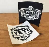 Yeti Built For The Wild Sticker Decal Ebay