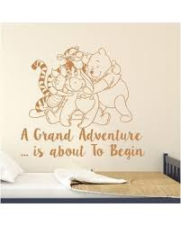 Savings On Classic Winnie The Pooh Nursery Bedroom Wall Decal Decal House Color Light Brown