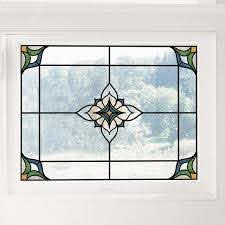 Inhome Blue Alden Stained Glass Decal Set Of 2 Tnh2415 The Home Depot