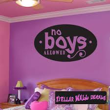 No Boys Allowed Child Teen Wall Decals Wall Quotes Wall Murals Ct054noboysvii7 Swd