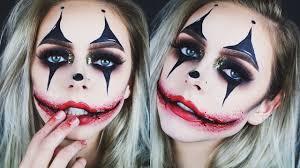 creepy glamorous clown halloween makeup