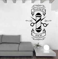 Barber Salon Vinyl Decal Wall Sticker Beauty Haircut Scissors Barber Shop Wall Decals Art Mural Interior Wall Decor Papers La875 Wall Sticker Barber Shopwall Decor Aliexpress