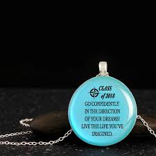 graduation necklace confidence quotes iridescent woods