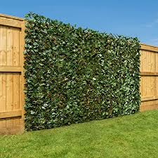 Christow Artificial Ivy Leaf Hedge Screening Expanding Willow Trellis With Leaves Outdoor Garden Privacy Screen Wall Fence Panel H1m X W2m 3ft 3 X 6ft 5 Amazon Co Uk Kitchen Home
