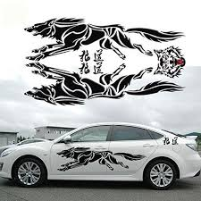 Fochutech Car Decal Stickers Wolf Totem Car Body Decals Vinyl Decal