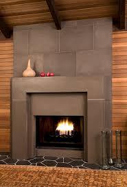block shiitake cast concrete fireplace