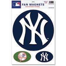 Ny Yankees Door Sign Car Magnets Set Of 3