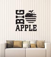 Vinyl Decal Wall Sticker Big Apple Ny American Room Decor Unique Gift Wallstickers4you