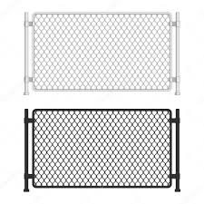 Chain Link Fence Fences Made Of Metal Wire Mesh On White Background Wired Fence Pattern In Realistic Style Mesh Netting Vector Illustration Eps 10 Premium Vector In Adobe Illustrator Ai Ai