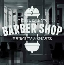 Amazon Com Pureg Barber Shop Vinyl Window Sticker Decal Hair Dressers Furniture Decor