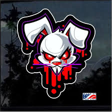 Vampire Bunny Full Color Decal Sticker Custom Sticker Shop