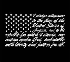 American Flag Pledge Of Allegiance Decal Sticker Car Window Etsy