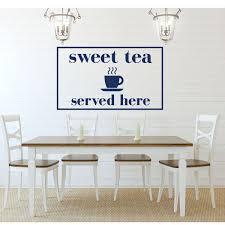 Kitchen Wall Sign With Tea Vinyl Decor Wall Decal Customvinyldecor Com