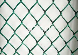 Green Plastic Chain Link Mesh Fence Roll For River Banks Garden Airport