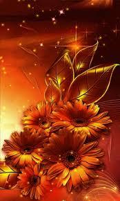 free golden flowers live wallpaper apk