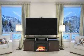 carson electric fireplace tv stand review