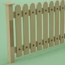 Wooden Fence 3d Model 9 Obj Max Fbx 3ds Free3d