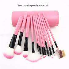 12pcs makeup brush set with barrel