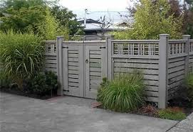 Devonshire Landscapes Lattice Fencing Seattle Lovely Fence Fence Gates Gray Wash Gate And T Fence With Lattice Top Wood Fence Design Fence Design