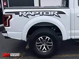 Amazon Com Ford Raptor Svt F150 Bedside Vinyl Graphics Decals 2017 2018 2019 Install Kit Included Automotive