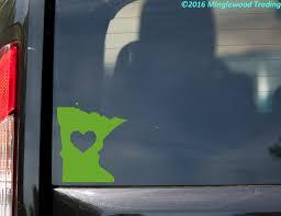 Minnesota Heart State Vinyl Decal Sticker 6 X 5 25 Love Mn Minglewood Trading