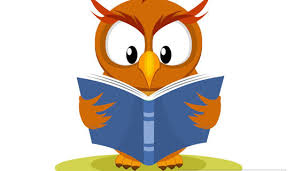 owl reading book clipart - Dewing Elementary