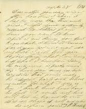 """James Butler """"Wild Bill"""" Hickok to Polly Butler Hickok - State Archives -  Kansas Historical Society"""