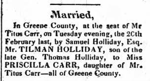 Priscilla Carr Married at Home - Newspapers.com