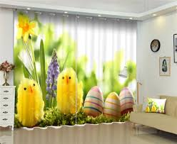 Curtains Yellow Chicke Print Luxury Blackout 3d Curtains For Living Room Kids Bedroom Drapes Cortinas Rideaux Customized Size Curtains Aliexpress