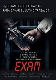 Exam (Import Sans Langue Française): Amazon.co.uk: Luke Mably, Adar Beck,  Chris Carey, Gemma Chan, Nathalie Cox, Stuart Hazeldine, Stuart Hazeldine,  Chris Jones, Gareth Unwin: DVD & Blu-ray