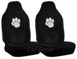 Rhinestone Paw Print Car Seat Covers 2 Pc From Car Decor Products
