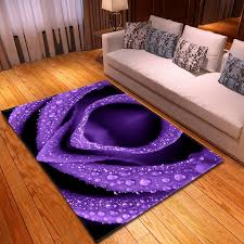 3d Purple Roses Carpet Valentine S Day Party Decor Rug Kids Room Play Crawl Mats Soft Flannel Carpets For Living Room Area Rugs Carpet Aliexpress