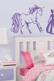 Princess And Unicorn Vinyl Decal Art Stickers For Nursery Room Baby Girl Decal For Wall Girl Decals Wall Decals Living Room Wall Decals