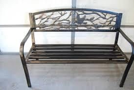 castlecreek welcome park bench ornate